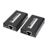 AYE02 POC HD Extender 60 Meters Over Network Cable 1080P 50/60Hz Switcher HD 2 Port Splitter HD Video Extractor Spdif Converter Video Adapter