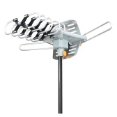 TV Antenna Outdoor Digital Amplified HDTV Antenna 150 Miles Long Range Support 2 TVs-UHF/VHF/1080P/4K with Wireless Remote Control & 33ft Coax Cable