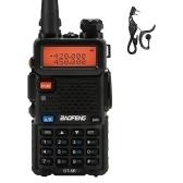 BAOFENG UV-5R Walkie Talkie FM Transceivr Two Way Radio Dual Display VHF 136-174 UHF 400-520mHZ 5W Two Way Ham Radio Rechargeable Portable Ham Radio VOX with Earpiece