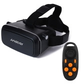 "Andoer CST-09 Version 3D VR Brille Virtual-Reality-DIY 3D VR Video Brille Film Spiel Gläser Head-Mounted 3D-Brille mit Stirnband mit MB-852 Mini multifunktionale Wireless Bluetooth v3. 0 Selfie Camera Shutter Gamepad für iPhone Samsung / alle 4.0 ~ 6,0"" Smart Phones"