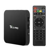 Second Hand TX3 PRO Smart Android TV Box Android 6.0 Amlogic S905X Quad-core 64bit UHD 4K  1G / 8G Mini PC WiFi & LAN H.265 DLNA Airplay Miracast Media Player US Plug