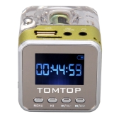 Mini Digital Portable Music MP3 / 4 Player TF USB Disk Speaker FM Radio
