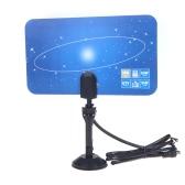 Antena de TV digital interna HDTV DTV HD VHF UHF Flat Design Plug UE alto ganho
