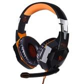 EACH G2000 Over-ear Game Gaming Headphone Headset Headphone Headband с микрофоном Bass LED Light для ПК