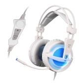 SADES A6 Gaming Headphone with Mic USB Over Ear Stereo Gaming Headset with LED Noise Cancellation & HiFi Sound Effect Music Earphones for Desktop Notebook Laptop