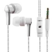 3.5mm Filaire Casque In-Ear Casque Stéréo Musique Smart Phone Tablet PC Écouteur Écouteur Câble Bleu