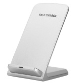 10W QI Fast Wireless Charger Power Cellphone Bracket Phone Holder Stand White