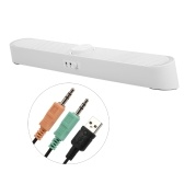 SADA V-198 Altoparlanti per PC con soundbar alimentati via USB con luci a LED Spina audio da 3,5 mm Microfono cablato Altoparlante soundbar per PC Cellulari Tablet Computer portatile desktop