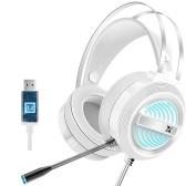 X9 Стереогарнитура Игровая гарнитура 7.1 Virtual Surround Bass Игровые наушники Игровые наушники-вкладыши USB-разъем Регулировка громкости с микрофоном Светодиодная подсветка для компьютера Геймер
