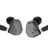Auscultadores intra-auriculares KZ ZS6 Microfone embutido de 3,5 mm