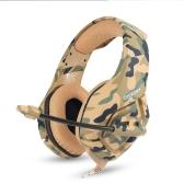 Headsets de jogo ONIKUMA K1 de 3,5 mm com auscultadores de música para auscultadores de microfone de som microfone para PC Novo Xbox Laptop DS PSP Camouflage Grey