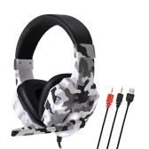 SY830MV Gaming Headset 3.5mm Wired Over Ear Headphones Noise Canceling E-Sport Earphone with Mic LED Light AUX+USB for Desktop PC