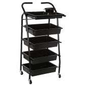 Hair Drawers Salon Trolley Rolling Cart Salon Storage Hair Colouring Cart Hair Trolley for Barber Hairdressing