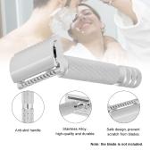 Shaving Razors Double Edge Handled Safety Traditional Wet Shaving Razor Stainless Alloy Chrome Plating