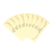 50pcs Disposable Eyebrow Ruler Sticker Accurate Adhesive Eyebrow Microblading Ruler Sticker Clear Tattoo Measurement Sticker For Permanent Makeup Eyebrow Shaping