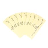 50 unids Desechable Ceja Etiqueta Engomada Adhesiva Ceja Microblading Regla Pegatina Tatuaje Claro Etiqueta de Medición Para el Maquillaje Permanente ceja Conformación