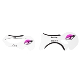 2pcs/pack Eyeliner Smoky Eye Shadow Cards Stencils Models Template Reusable Makeup Auxiliary Tools