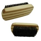 Cepillo de barba de cerdas de jabalí para hombres Cepillo de afeitar de bigote Cepillo de pelo facial de bambú Cepillo de afeitar masculino redondo de bambú