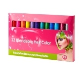12 Hair Chalk Set Blendbare temporäre Haarkreiden