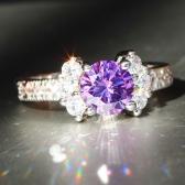 Moda 925 prata esterlina Anel 3ct Tamanho 6-9 incrível Princesa corte Rosa Sapphire & Topaz Engagement Ring preto 5