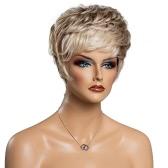 """Mujer de pelo corto Cabeza completa pelucas de las señoras del partido de Cosplay diario del pelo humano real del pelo 11 """"la extensión del pelo del traje color mezclado"""