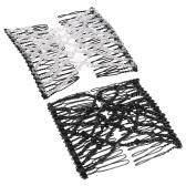 2Pcs Glasperlen-magische Kamm-elastische doppelte Einfügungs-Klipps schicke Ausdehnungs-Haar-Kopf-Kamm-Stulpe-gelegentliche Farben DIY Haar-Anreden-Werkzeug