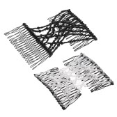 2Pcs Glass Bead Magic Comb Elastic Double Insert Clips Chic Stretch Hair Head Comb Cuff Random Colors DIY Hair Styling Tool