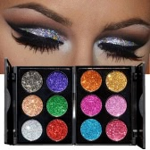 HANDAIYAN 6Pcs Diamond Golden Color Powder Eyeshadow&Nail Glitter  Colors Mixed Shiny Eye Shadow Kit