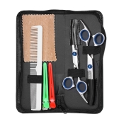 Professional Hair Cuting Scissors Set Barber Shears Kit de depilação para cabelo Salon Home Hairdressing Tool