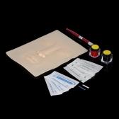 Conjunto de cejas Microblading Kit de tatuaje de cejas permanente Ceja manual de aguja de la pluma Pigmento tinta Práctica de la piel Herramienta de arte corporal