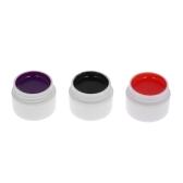 3色UVジェイルネイルポリッシュネイル接着ネイルアートピグメントセットUVゲルポリッシュソリッドグルー