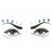 DIY接着剤の顔の宝石類ラインストーン一時的な入れ墨の宝石祭パーティーのキラキラのステッカーフラッシュ一時的な入れ墨のステッカー簡単に操作する