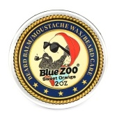 Blauer ZOO-Schnurrbart-Wachs-All-Natural und organischer Bart, der Balsam-Bart-Sorgfalt für Mann-Bart-Wachstum konserviert