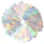 12/24 Pcs 3D Laser Hohl Schablone Aufkleber Nagel Vinyls Transfer Tipps Guide Vorlage Mixed Pattern Design Aufkleber
