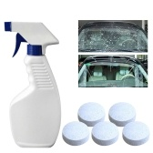 Limpiador de espray efervescente multifuncional con botella de rociador removedor de manchas Cocina baño herramienta de limpieza doméstica blanco