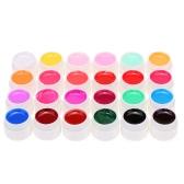 マニキュアネイルアートの装飾ツールのANSELF 24PCSミックスピュアカラーUVネイルジェルポリッシュ拡張プロフェッショナルUVジェルセットビルダージェル