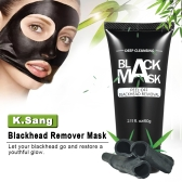 K.Sang Blackhead Remover Bamboo Charcoal Black Mask Facial Nose Deep Cleansing Purifying Peel Off Pores Shrinking