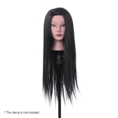 "23"" Hairdressing Training Head Dummy Head Cosmetology Mannequin Head 30% Real Hair + 70% High Temperature Fiber Black"