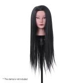 "23"" Hairdressing Training Head Dummy Head Cosmetology Mannequin Head 30% Real Hair + 70% High Temperature Fiber Black"