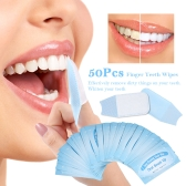 50Pcs Wipes Dental Clean Teeth Whitening Tool for Oral Deep Cleaning