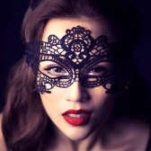 Styling Black Sexy Lace Mask for Party Halloween Venetian Costumes Lasser-cutting Technology