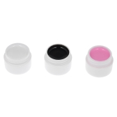 3 Colores UV Gail Nail Polish Nail Glue Nail Art Pigment Set UV Gel Polish Solid Glue