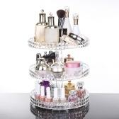 Moda transparente de acrílico 360 grados maquillaje giratorio organizador caja DIY cosméticos desmontables caja de almacenamiento de la joyería