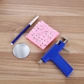 Professional Azul Aço Inoxidável Nariz Ear Umbigo Analgesia Do Corpo Orelha Piercer Unidade Kit de Ferramentas