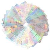 12/24 Unids 3D Láser Plantilla Hueco Pegatinas Nail Vinilos Transferir Guía Plantilla Mixta Patrón Diseño Pegatina