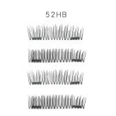 4個の3D磁気的なまつげ手作りの偽のまつげの磁石自然な偽のまつげのメイクアップエクステンション