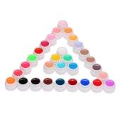 マニキュアネイルアートの装飾ツールのAnself 30個ミックスピュアカラーUVネイルジェルポリッシュ拡張プロフェッショナルUVジェルセットビルダージェル