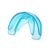 1Pc Ortodoncia Trainer Dientes Alineación de dientes Electrodomésticos Brace Dental Tray Mouthguard Azul Silicona Con Caja