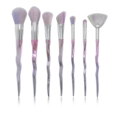 7 Unids Pinceles de Maquillaje Set Cosmetic Brush Kit para Eyeshadow Foundation Blush Powder Concealer Nylon Hair Gradient Color Handle