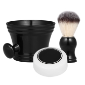 3pcs Traditional Beard Shaving Tools Set  Wet Shaving Kit Shaving Brush Mug Bowl Soap Home Barber